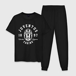 Пижама хлопковая мужская Juventus 1897: Torino цвета черный — фото 1