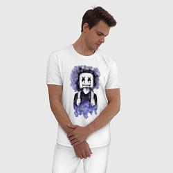 Пижама хлопковая мужская Marshmello: Space Boy цвета белый — фото 2