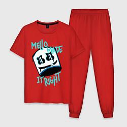 Пижама хлопковая мужская Mello Made it Right цвета красный — фото 1