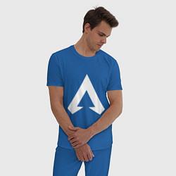 Пижама хлопковая мужская Apex Symbol цвета синий — фото 2
