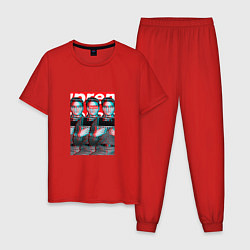 Пижама хлопковая мужская Supreme x Elvis Presley цвета красный — фото 1