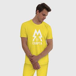 Пижама хлопковая мужская Метро: Спарта цвета желтый — фото 2
