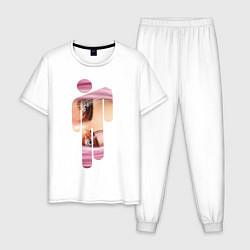 Пижама хлопковая мужская Billie Eilish Style цвета белый — фото 1