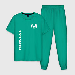 Пижама хлопковая мужская HONDA цвета зеленый — фото 1