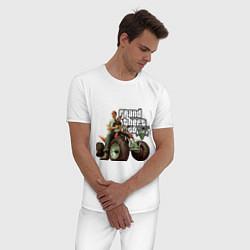 Пижама хлопковая мужская GTA 5: Trevor цвета белый — фото 2