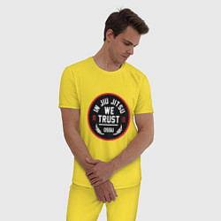 Пижама хлопковая мужская Джиу Джитсу цвета желтый — фото 2