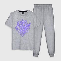 Пижама хлопковая мужская Deep Purple: Highway Star цвета меланж — фото 1