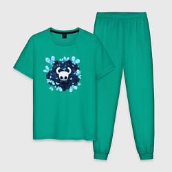 Пижама хлопковая мужская Hollow knight цвета зеленый — фото 1