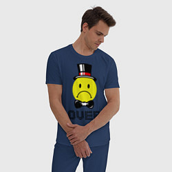 Пижама хлопковая мужская Game over (парная-мужская) цвета тёмно-синий — фото 2