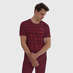 Пижама хлопковая мужская 21 Pilots: Don't Trust цвета меланж-бордовый — фото 2