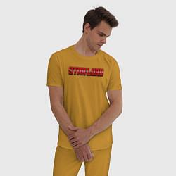 Пижама хлопковая мужская Star-lord цвета горчичный — фото 2