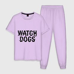 Пижама хлопковая мужская Watch Dogs цвета лаванда — фото 1