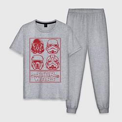 Пижама хлопковая мужская Elite Stormtrooper цвета меланж — фото 1
