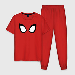 Пижама хлопковая мужская Spider-Man цвета красный — фото 1