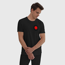 Пижама хлопковая мужская RED HOT CHILI PEPPERS цвета черный — фото 2
