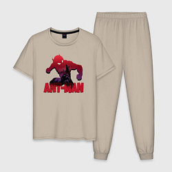 Пижама хлопковая мужская Ant-man цвета миндальный — фото 1