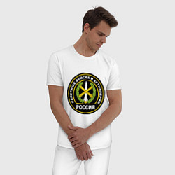 Пижама хлопковая мужская РВиА цвета белый — фото 2
