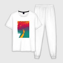 Пижама хлопковая мужская JONY Список твоих мыслей цвета белый — фото 1