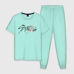 Пижама хлопковая мужская STRAY KIDS FELIX цвета мятный — фото 1