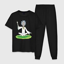 Пижама хлопковая мужская Rick Sanchez цвета черный — фото 1