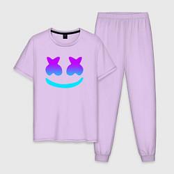 Пижама хлопковая мужская MARSHMELLO цвета лаванда — фото 1