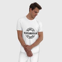 Пижама хлопковая мужская Made in Tatarstan цвета белый — фото 2