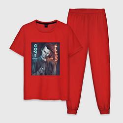 Пижама хлопковая мужская GONE Fludd цвета красный — фото 1