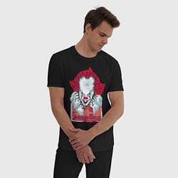 Пижама хлопковая мужская IT цвета черный — фото 2