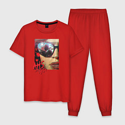 Пижама хлопковая мужская AHS 1984 цвета красный — фото 1