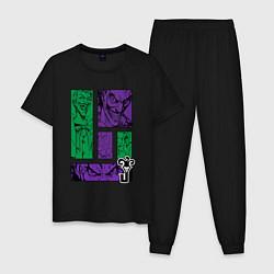 Пижама хлопковая мужская Joker Emotions цвета черный — фото 1