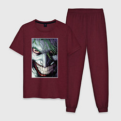 Пижама хлопковая мужская Joker цвета меланж-бордовый — фото 1