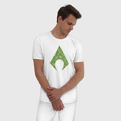 Пижама хлопковая мужская Aquaman цвета белый — фото 2