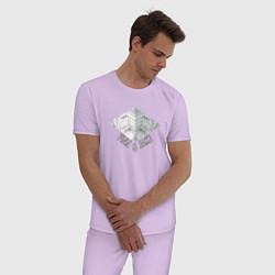 Пижама хлопковая мужская Finn & Jake цвета лаванда — фото 2