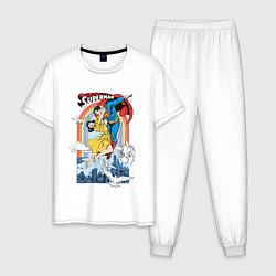Пижама хлопковая мужская Superman цвета белый — фото 1
