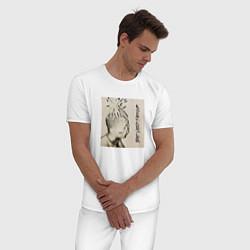 Пижама хлопковая мужская XXXTENTACION BAD VIBES FOREVER цвета белый — фото 2
