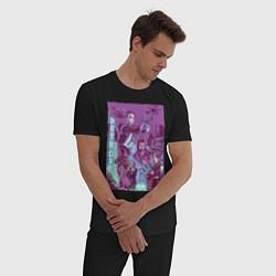 Пижама хлопковая мужская DETROIT: BECOME HUMAN цвета черный — фото 2