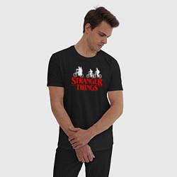Пижама хлопковая мужская STRANGER THINGS цвета черный — фото 2