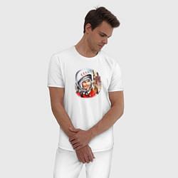 Пижама хлопковая мужская Гагарин ?? 1 цвета белый — фото 2