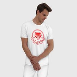 Пижама хлопковая мужская ВЕДЬМАК цвета белый — фото 2