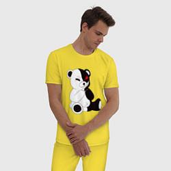 Пижама хлопковая мужская Monokuma цвета желтый — фото 2