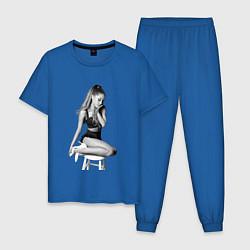Пижама хлопковая мужская ARIANA GRANDE цвета синий — фото 1