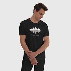 Пижама хлопковая мужская Лес цвета черный — фото 2