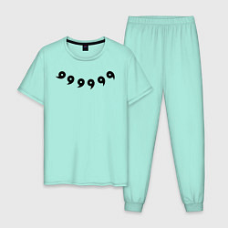 Пижама хлопковая мужская НАРУТО 6 ПУТЕЙ НА СПИНЕ цвета мятный — фото 1