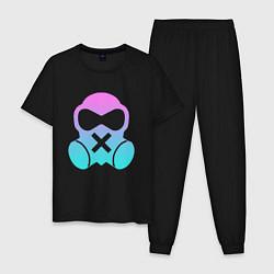 Пижама хлопковая мужская Rainbow Six:Mute цвета черный — фото 1