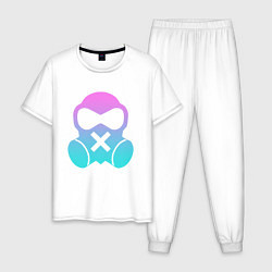 Пижама хлопковая мужская Rainbow Six:Mute цвета белый — фото 1
