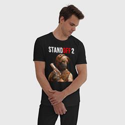 Пижама хлопковая мужская STANDOFF 2 цвета черный — фото 2