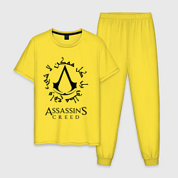 Пижама хлопковая мужская ASSASSIN'S CREED цвета желтый — фото 1