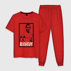 Пижама хлопковая мужская EL CUCUY цвета красный — фото 1
