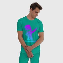 Пижама хлопковая мужская MARSHMELLO цвета зеленый — фото 2