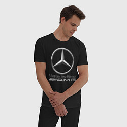 Пижама хлопковая мужская MERCEDES-BENZ AMG цвета черный — фото 2